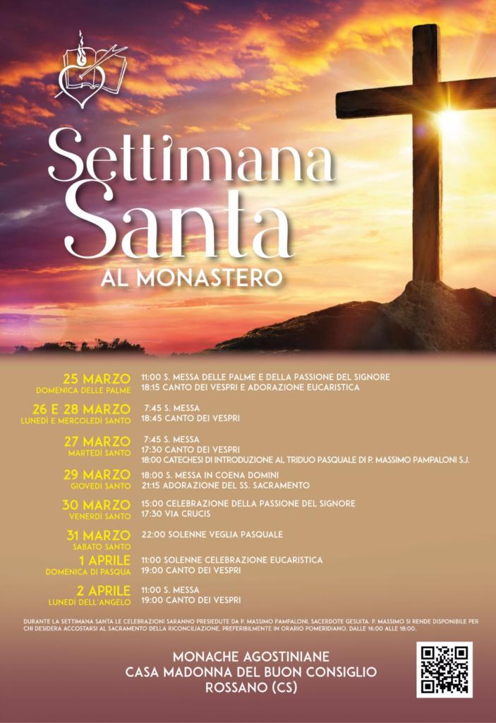Orario Settimana Santa al Monastero