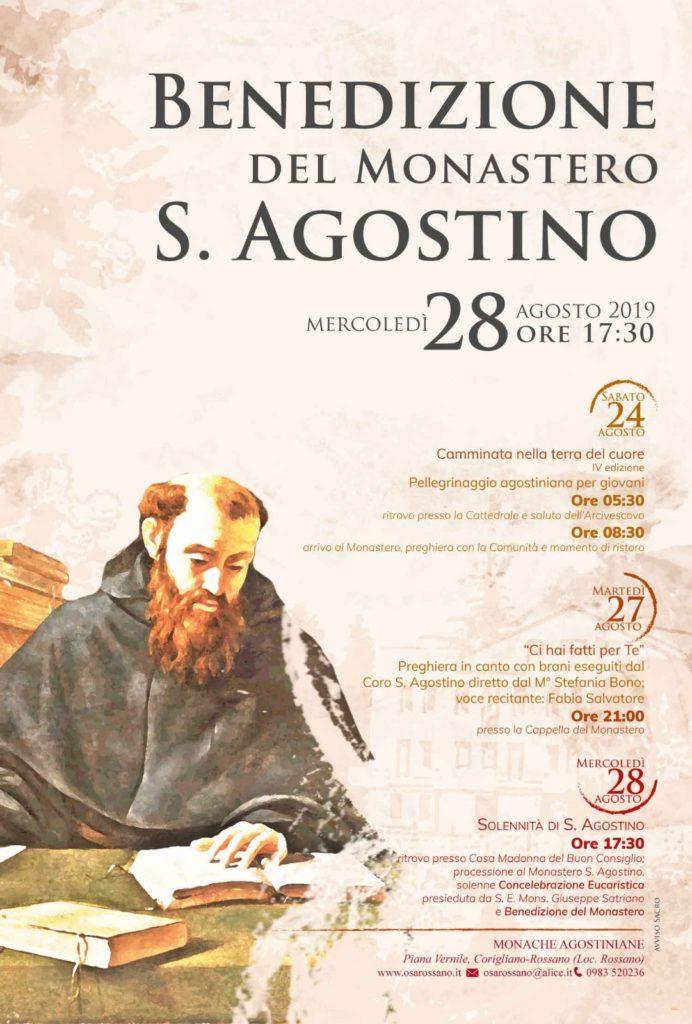 Locandina Benedizione Monastero S. Agostino 2019